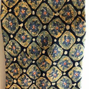 Banana Republic Silk Tie Italy Blue, Green, Yellow